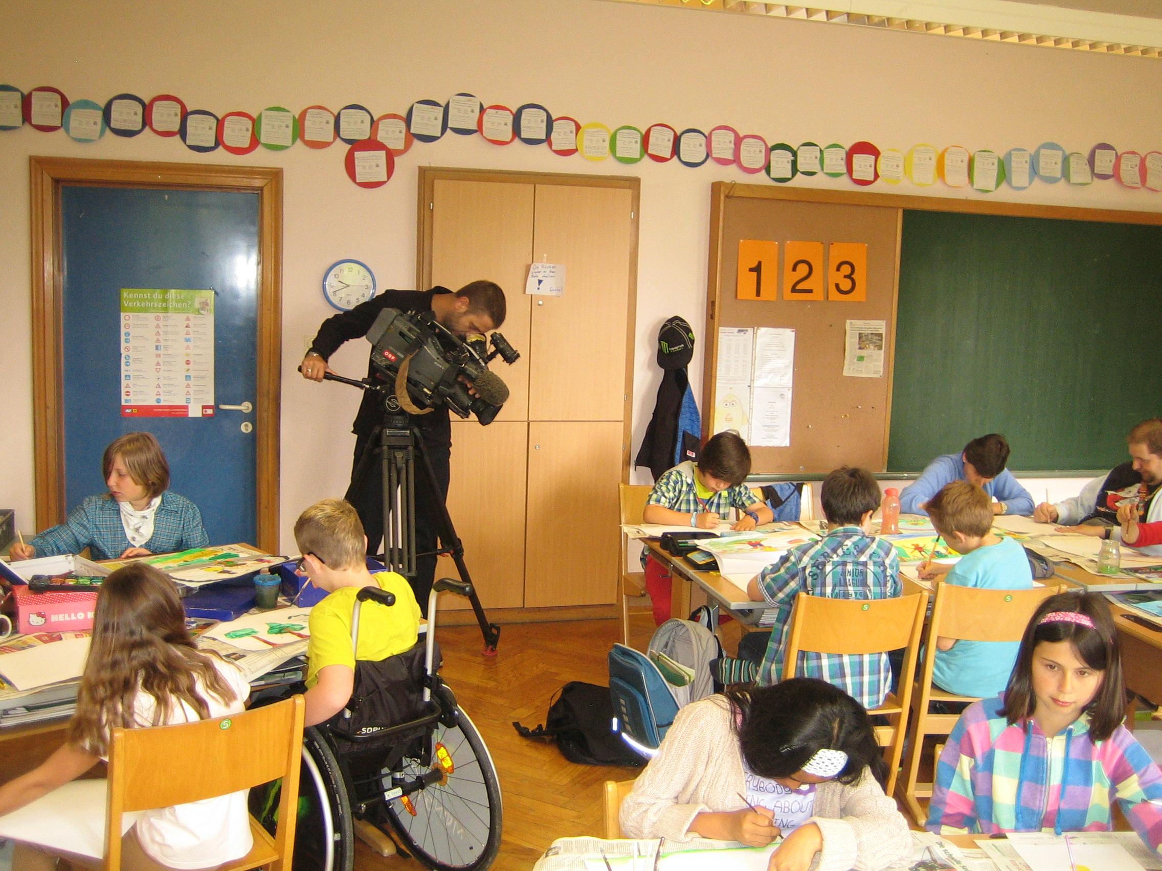2012_news_Besuch vom ORF, 4b VS Pinsdorf, Juni 2012 029